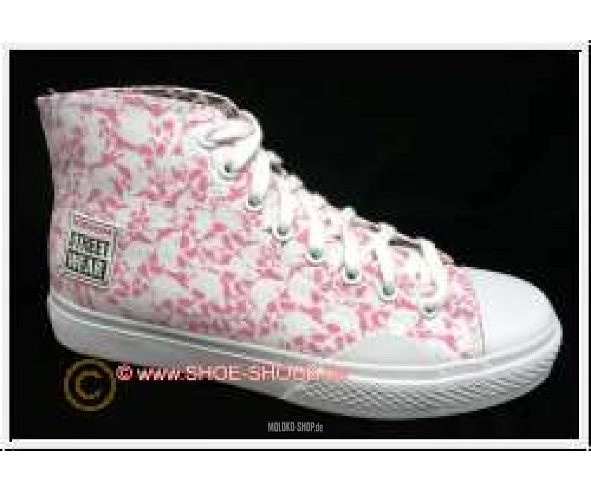 Andere Marken Vision Street Wear Skull High Top white/pink