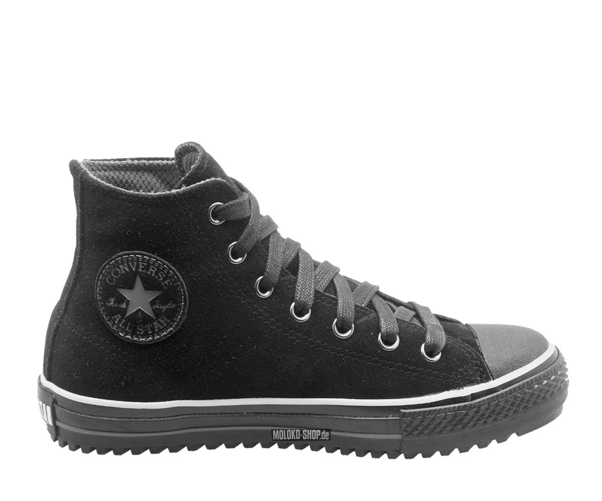 converse chucks mid boot black