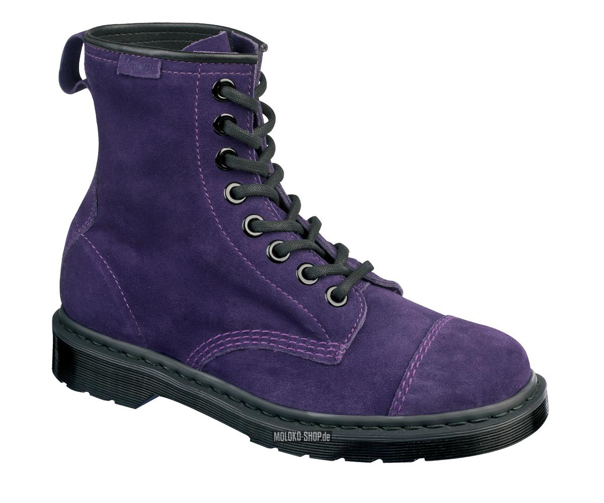 dr martens 8 eye carey potent purple suede schuhe aus. Black Bedroom Furniture Sets. Home Design Ideas