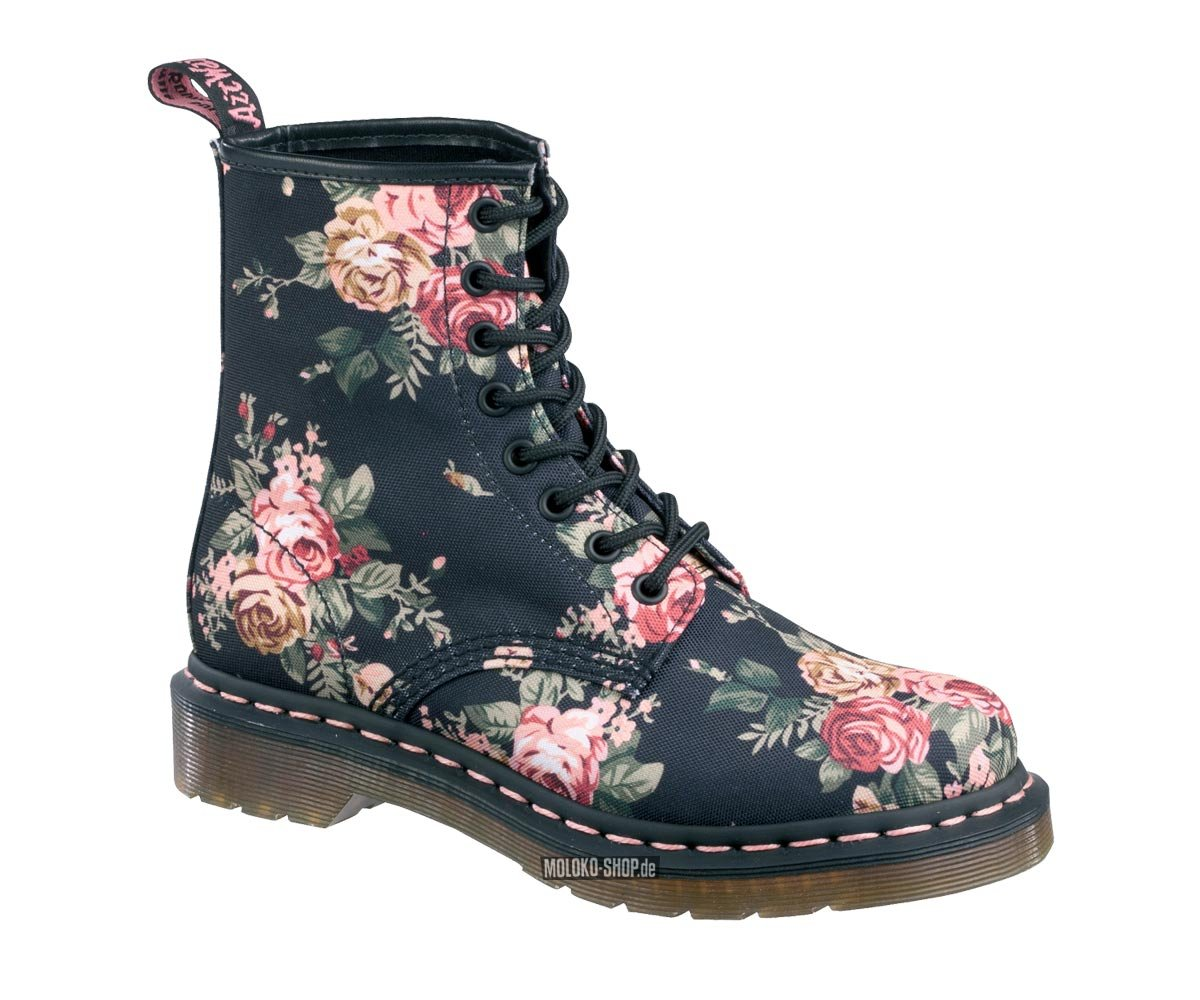 dr martens 8 loch stiefel victorian flowers stoff textil rosen blumen 1460 boots. Black Bedroom Furniture Sets. Home Design Ideas