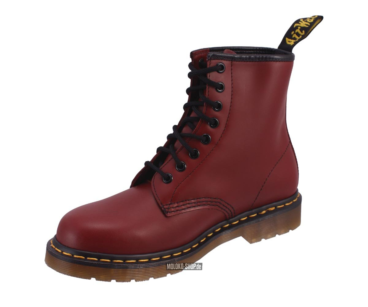 dr martens 8 loch boot 1460 cherry red smooth. Black Bedroom Furniture Sets. Home Design Ideas