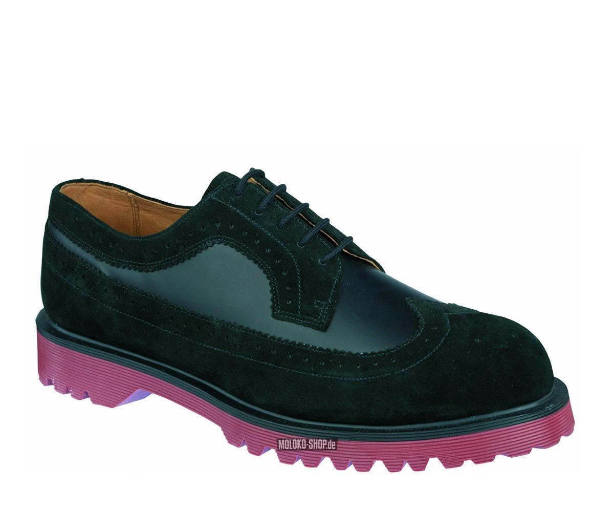 dr martens brogue shoe black suede whitney doc martens. Black Bedroom Furniture Sets. Home Design Ideas