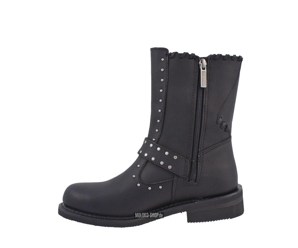harley davidson abbie zip boot black damenstiefel. Black Bedroom Furniture Sets. Home Design Ideas