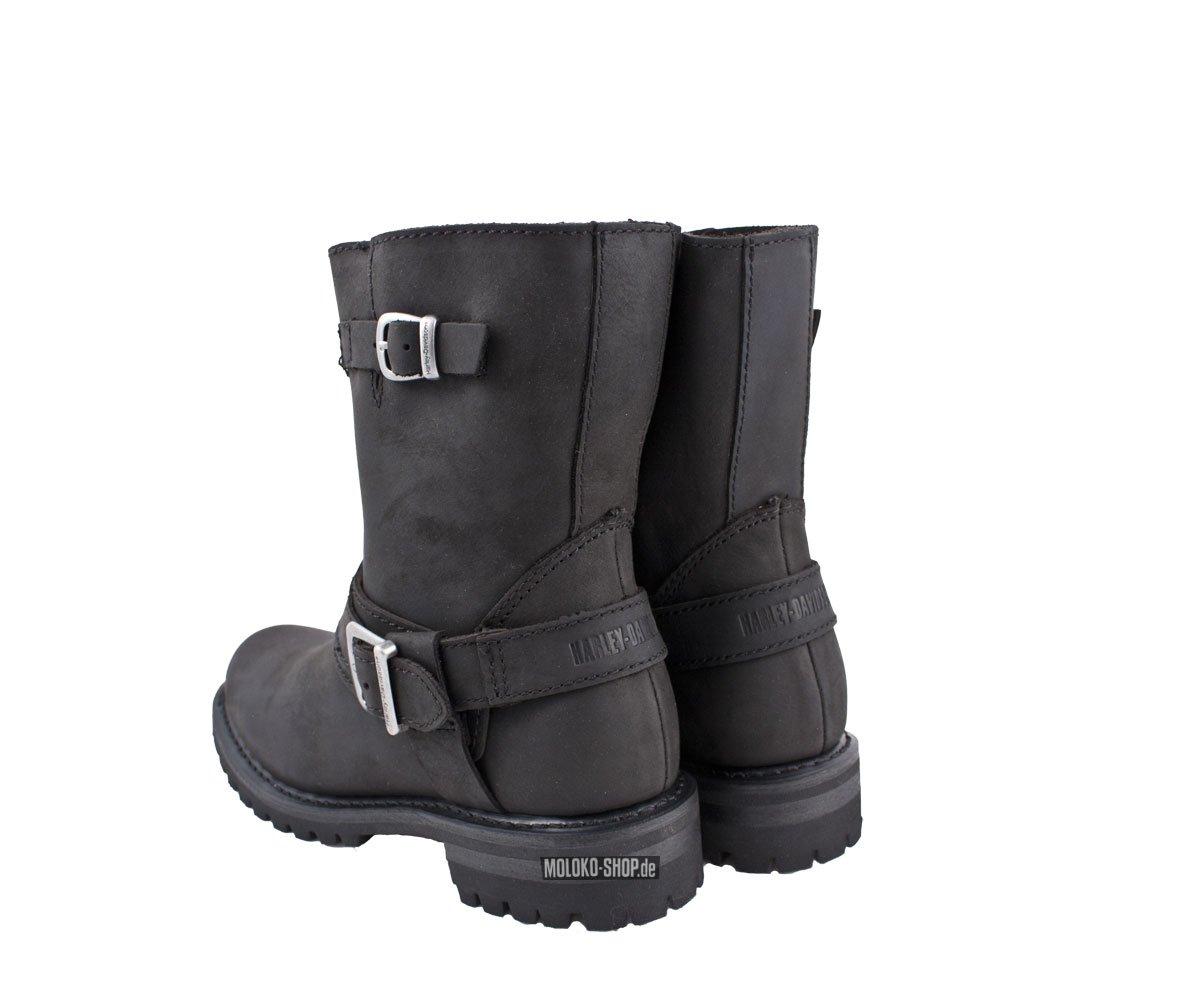 harley davidson scarlet zip harness boot black damenstiefel. Black Bedroom Furniture Sets. Home Design Ideas