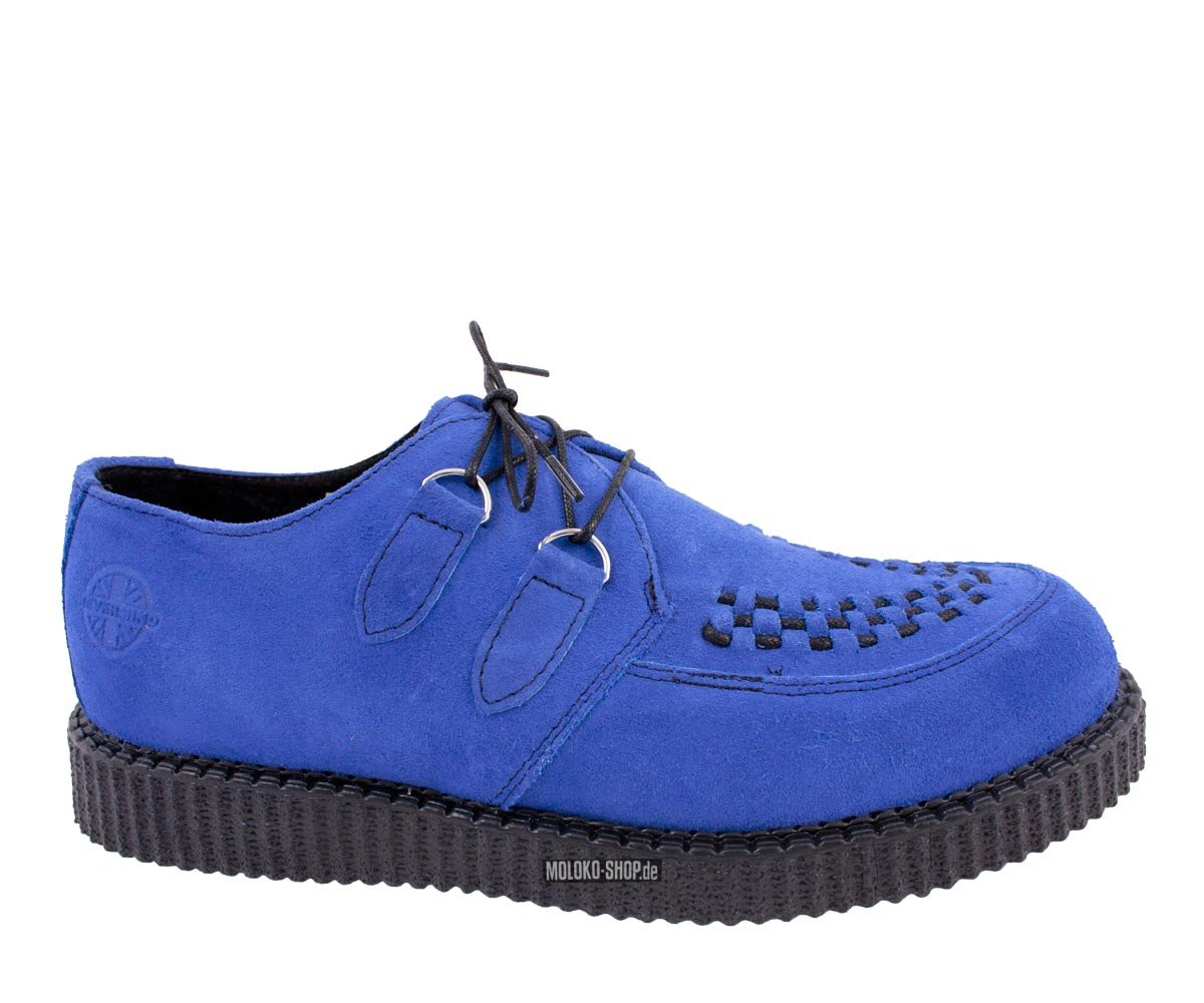 Creepers nevermind lo haley suede blue for Schuhschrank yellow cab