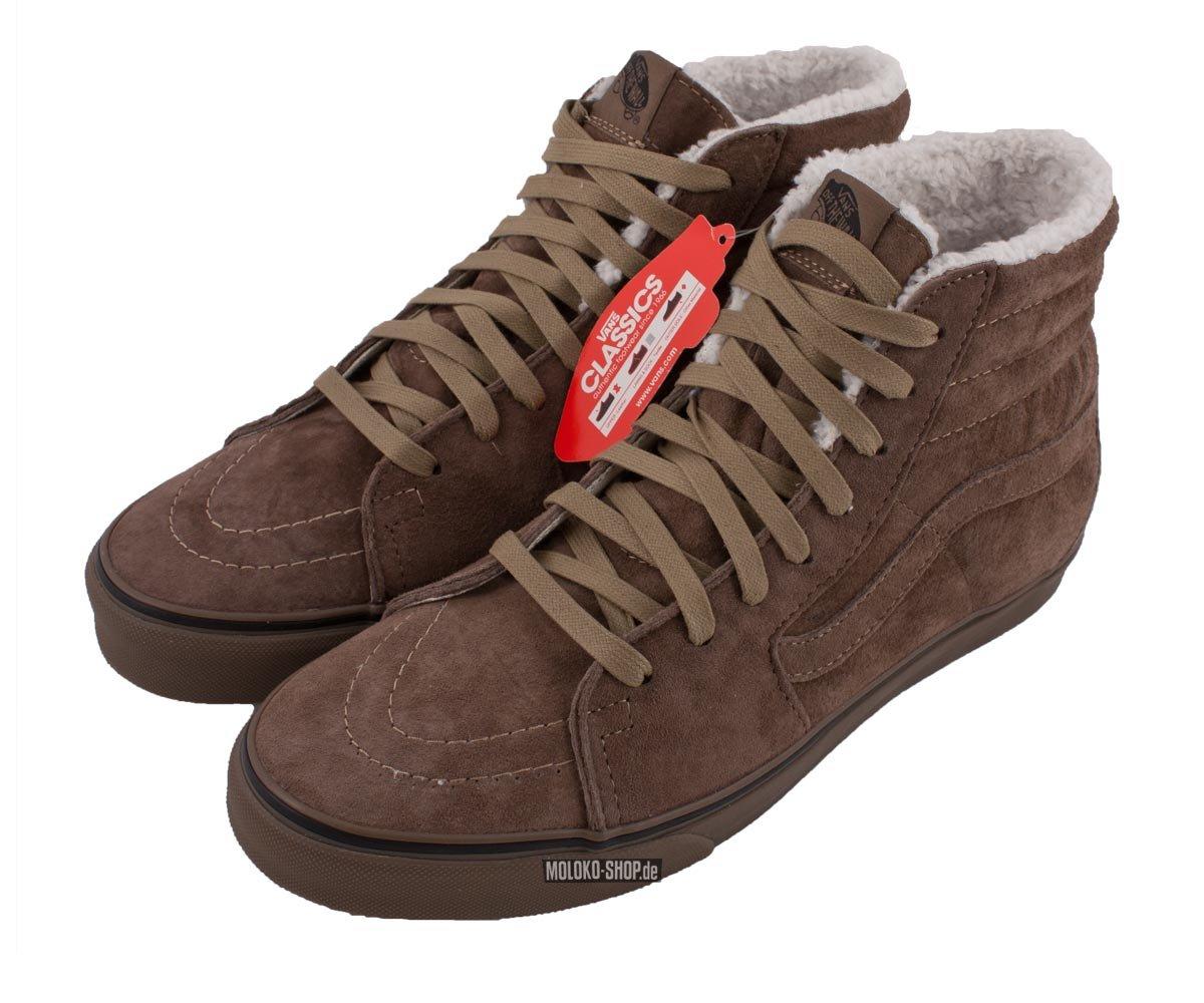 31c0994d1bc7 Buy vans sk8 hi fleece mocha brown
