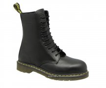 Dr. Martens 10 Eye Steel Caps Black