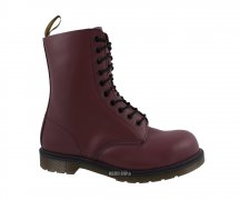 Dr. Martens 10 Eye Steel Caps Cherry Red