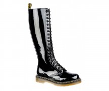 Dr. Martens 20 Eye Zip Boot Patent Black