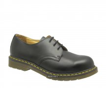Dr. Martens 3 Eye Steel Caps Black