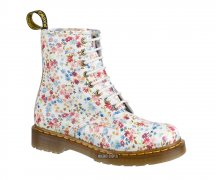 Dr. Martens 8 Loch 1460 Lotti White/Blue Flowers 11821407