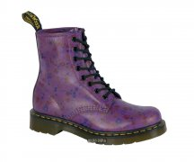 Dr. Martens 8 Loch 1460 Bright Purple Little Flowers...