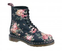 Dr. Martens 8 Eye Victorian Flowers Black