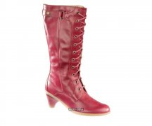 Dr. Martens Jenna Midcalf Laced Boot Red