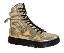 Dr. Martens Lyric Mix Lace To Toe Boot Gold
