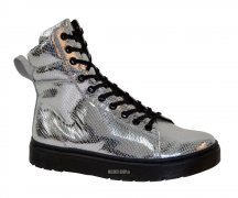 Dr. Martens Lyric Mix Lace To Toe Boot Silver