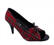 Funtasma Pupil 24 Red Plaid