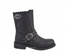 Harley-Davidson Abbie Engineer Zip Boot Black