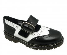 Nevermind Mary Janes Brogue black/white