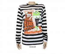 Too Fast STRIPED LONG SLEEVE TEE - Monsters