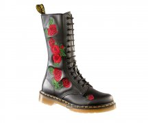 Dr. Martens 14 Eye Embroidery Vonda Black