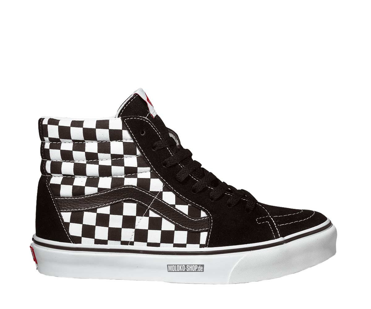 vans black white kariert