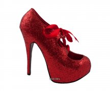 Bordello Teeze Red Glitter