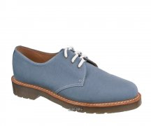 Dr. Martens 3 Loch 1461 Lester Faded Denim Fine Canvas