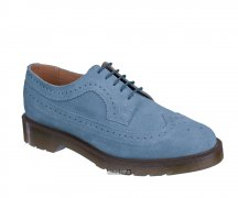 Dr. Martens 5 Loch 3989 Brogue Shoe Faded Denim Hi Suede WP