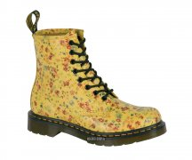 Dr. Martens 8 Eye Lotti White/Blue Flowers