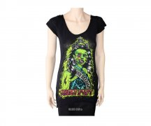 Iron Fist Ladies Deadbeat Lace Up Back Top
