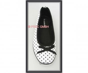 Ballerinas Polka Dots white/black