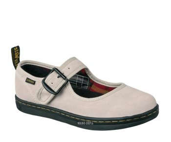 Dr. Martens Mary Jane Electric Carnaby Mary Jane Off White Hi Suede WP