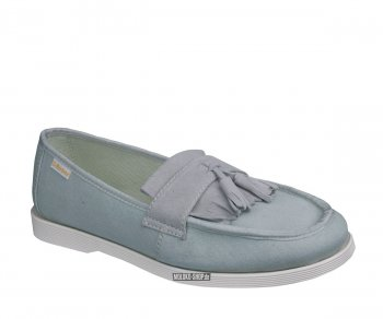 Dr. Martens Slip On Perth Tassle Loafer Off-White Canvas