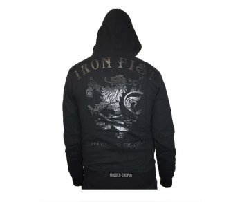 Iron Fist Hooded Zipper Fury Double Breasted