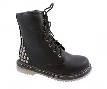 Lace Boots 7 Eye Studded 38