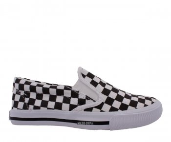 Slip Ons Checker White/Black