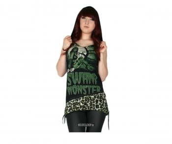 Too Fast Hadley Hooded Tank - Pinup Swamp Monster