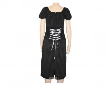 Too Fast Wench Dress - Pinstripe