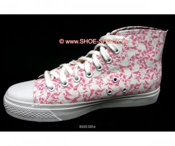 Vision Street Wear Skull High Top white/pink