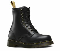 Dr. Martens 8 Eye 1460 Black Vegan Felix Rub-Off