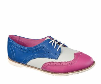 Dr. Martens 4 Loch Polina Rasberry+ White+ Blue Eur 39 (UK6)
