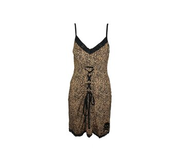 Sourpuss Leopard Molotov Dress Girl S