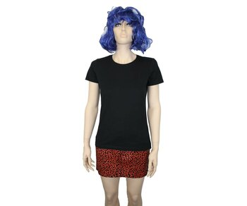 Sourpuss Mini Skirt Leopard Red Girl L