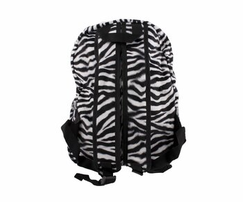 Backback Fluffy Zebra white