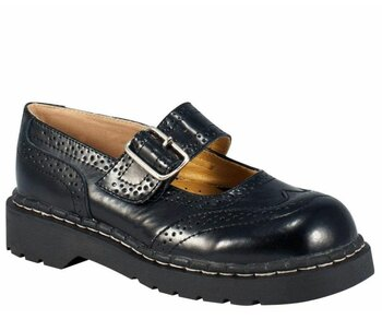T.U.K. Mary Jane T1002 Anarchic Brogue Black 39