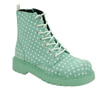 T.U.K. Boots T2211 Anarchic  Mint Suede / White Polka Dot...