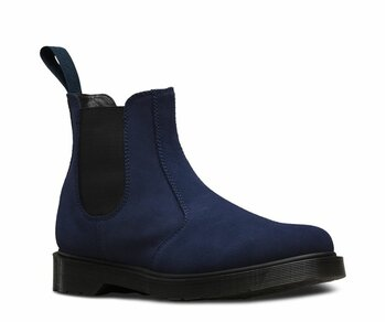 Dr. Martens Slip On 2976 Blue Navy Hi Suede WP
