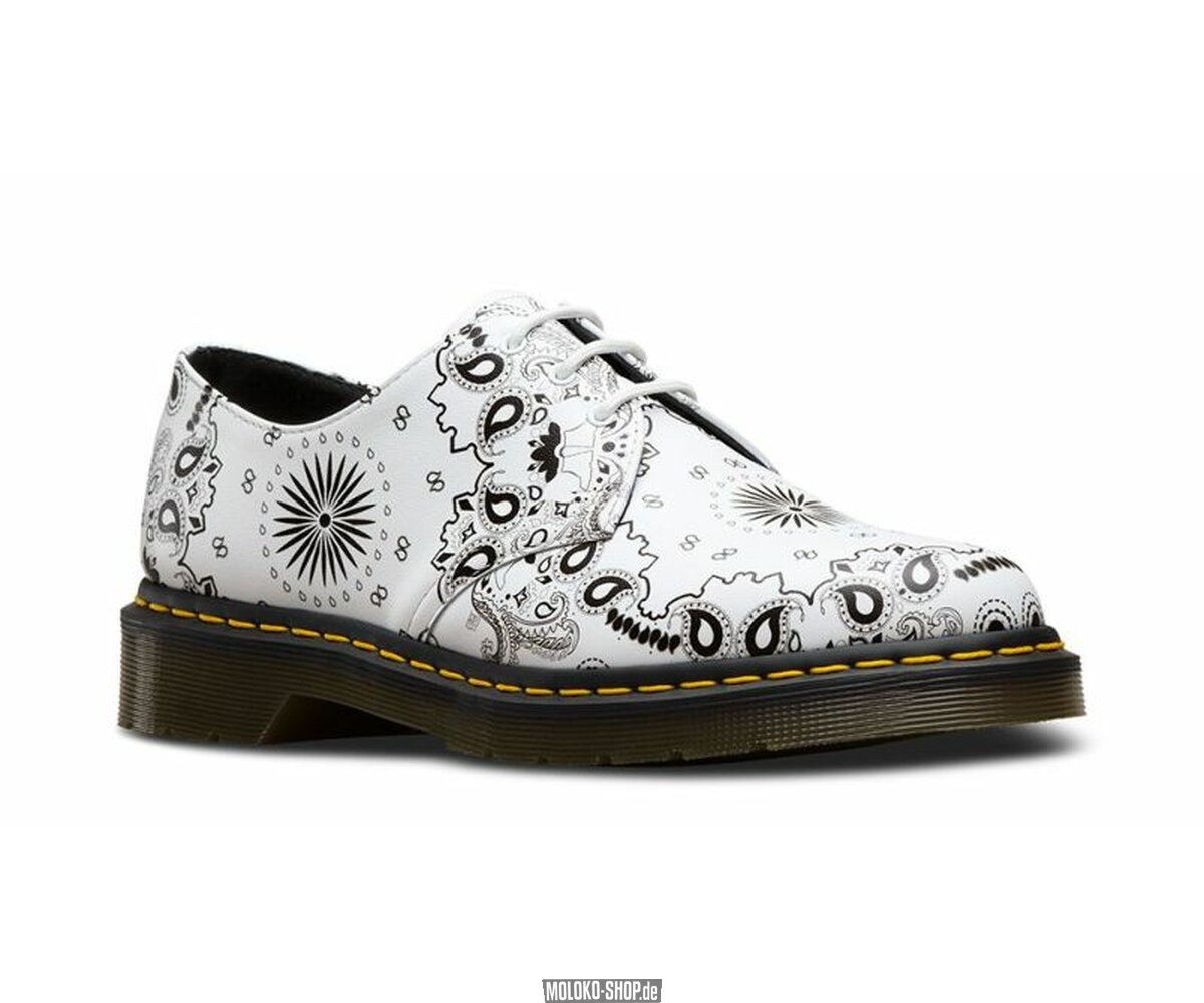Dr Martens Ladies Bandana Shoes In White