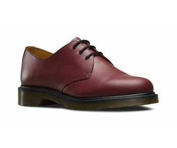 Dr. Martens 3 Loch 1461 PW Cherry Red Smooth Eur 39 (UK6)